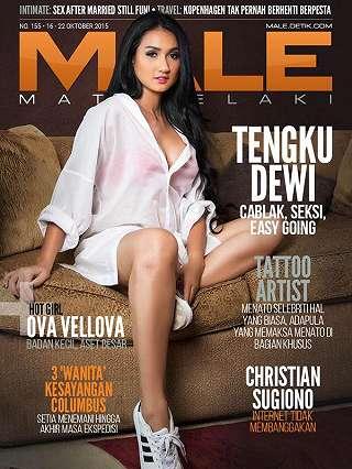 Tengku Dewi Putri Di Majalah Male 155