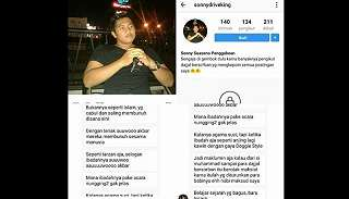 Mengaku Hina Islam di IG, Sonny Suasono Panggabean Minta Maaf