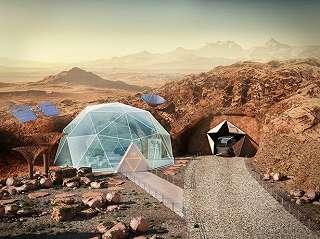 Begini Desain Rumah di Planet Mars, Ada Taman dan Gym