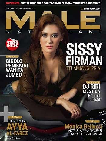 Sissy Firman On Male Magazine Cover December