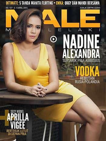 Nadine Alexandra On Male Magazine Cover April