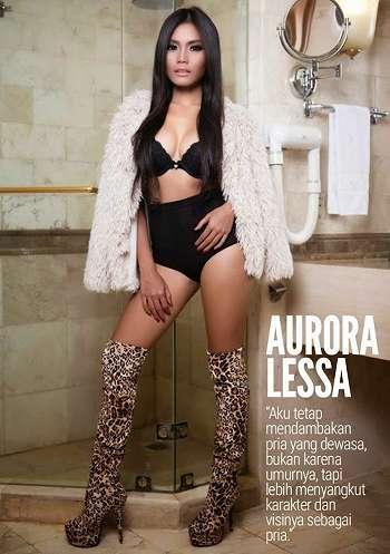Koleksi Foto Aurora Lessa On Male Magazine February