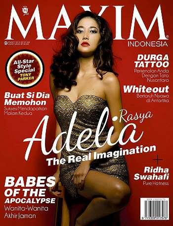 Adelia Rasya Model Maxim Indonesia Maret