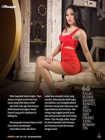 Koleksi Foto Maya Ningrum On Male Magazine January