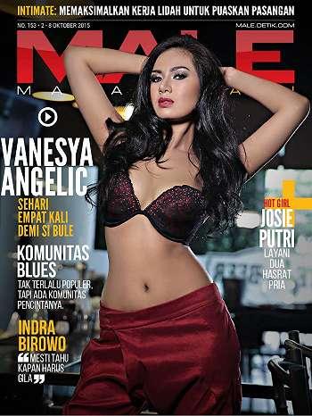 Vanesya Angelic Di Majalah Male 153
