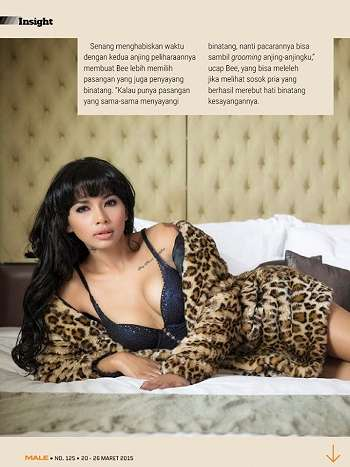 Bee Viona On Male Magazine March