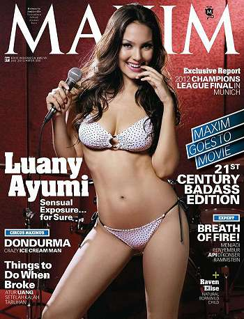 Galeri Foto Seksi Model Luany Ayumi Model Maxim Magazine Indonesia