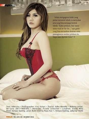 Agista Faulina On Male Magazine March