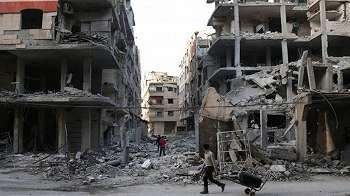 Perang Suriah : 'Pasukan pro-Assad merebut kembali 10% wilayah Ghouta Timur'