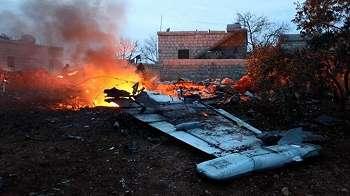 Pesawat Sukhoi-25- milik Rusia ditembak jatuh di Suriah