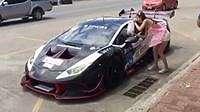 Video Lamborghini Jajan di Pedagang Kaki Lima Cantik Ini Jadi Viral