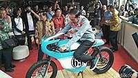 Jokowi Iseng Coba Motor Gibran