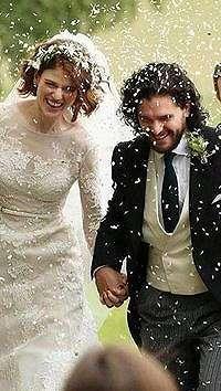 Gaun Dramatis Rose Leslie Saat Dinikahi Jon Snow 'Game of Thrones'