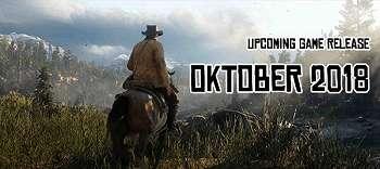 Upcoming Game Release: Oktober 2018