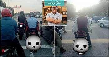 Pria Ini Unggah Bahaya Pakai Jaket Terbalik Saat Berkendara Motor, Ngeri