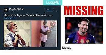 10 Meme Kocak 'Lionel Messi' Usai Argentina Dibantai Kroasia