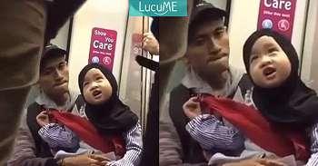 Anak Kecil Cantik Berjilbab Ini Bershalawat di Kereta, Netizen Dibuat Gemas