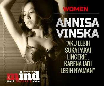 Annisa Vinska Best Lingerie Male Indonesia