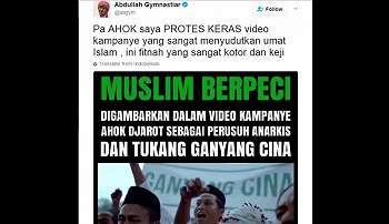 Aa Gym Sebut Video Kampanye Ahok Memfitnah Umat Islam