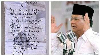 Surat Cinta Suci Buat Prabowo Subianto