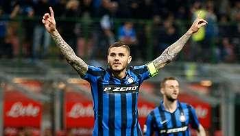 Inter Milan Bantai Atalanta 7-1, Icardi dan Banega Pesta Gol