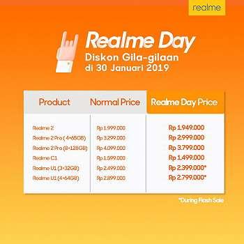 Realme Hadirkan    Realme Day    dengan Harga Spesial dan Penawaran Menarik