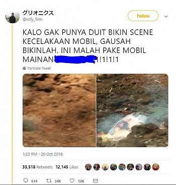 Tercyduk Pakai Mobil Mainan, Adegan Ini Viral Diketawain Netizen