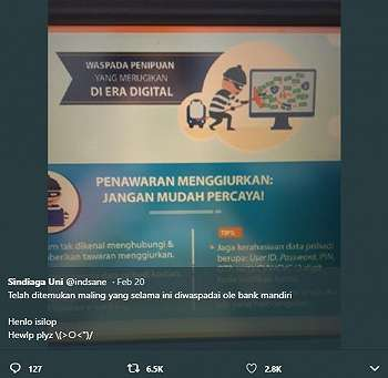 Lama Dicari, Netizen Akhirnya Temukan Maling yang Diwaspadai Bank