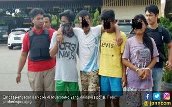 Polisi Ringkus Empat Pengendar Narkoba, Satu Dilumpuhkan