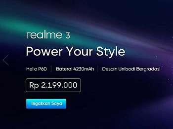Inikah Harga Jual Realme 3 di Indonesia?