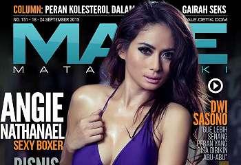 Angie Nathanael Sexy Boxer Majalah Male