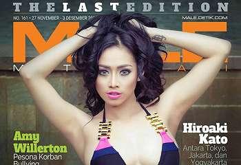 Nheyla Putri Di Majalah Male 161 Last Edition