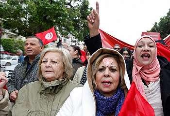 Unjuk rasa di Tunisia menolak kepulangan jihadis
