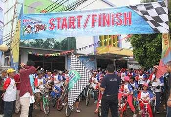 Serunya Color Fun Bike 2017 STMIK Nusa Mandiri Jakarta