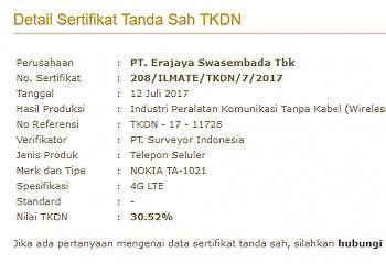 Nokia 6, Nokia 5 dan Nokia 3 Kantongi Sertifikasi TKDN di Indonesia