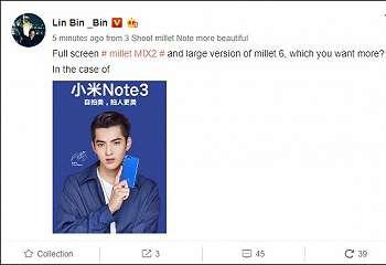 Xiaomi Konfirmasi Kehadiran Mi Note 3 Bersama Mi MIX 2 11 September Mendatang