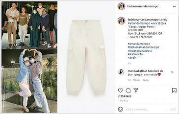Tumben Murah, Celana Polos Amanda Manopo Ramai Diincar Warganet